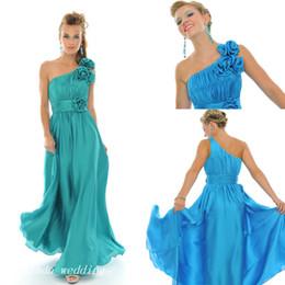 Teal Green Dress One Shoulder Online | Teal Green Dress One ...