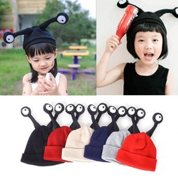 Discount baby adult cap hat 2016 Autumn And Winter hat Children Wool Cap Cartoon Character Funny Eyes Insect Antennae Perspective Cap Baby Warm Hat
