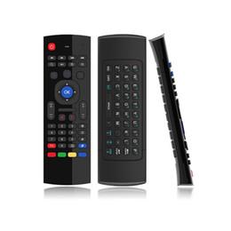 Regulador alejado vendedor caliente del ratón del aire del teclado de MX3 2.4GHz IR Somatosensory que aprende 6 ejes para la CAJA de la TV androide