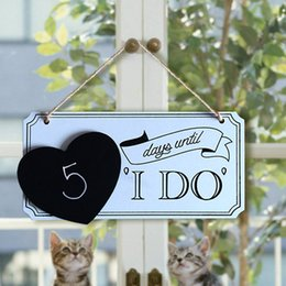 1 Year To Go Until Wedding Gift : Wood Signs I Do Photo Album Prop Chic Wooden Wedding Decorating Board ...