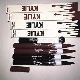 Wholesale Hot Kylie Jenner Black Brown Liquid Eyeliner Long lasting Waterproof Eye Liner Pencil Pen Nice Makeup Cosmetic Tools Kylie