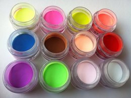 Wholesale Acrylic Powder Mix Colors Acrylic Nail Art Tips Uv Gel Powder Dust d Diy Decoration Set Plastic Color Light Therapy Changing Nail Polish