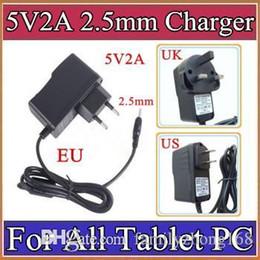 5V 2A DC 2,5 milímetros adaptador de alimentação carregador de parede Plug Power Converter for A13 A23 A33 A31S ALL Tablet PC UE US UK plug Retail A-PD