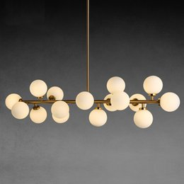 Discount Kitchen Lighting Trends Simple Living Room Villa Clothing Trend Creative Personality Molecule Long Ball Glass