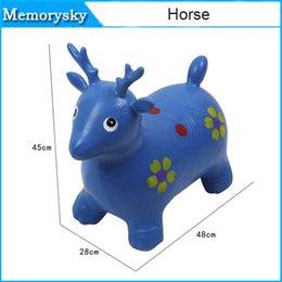 juguete deportes vaca nueva llegada engrosamiento ciervo saltando saltando juguete del caballo de juguete inflable, diversión al aire libre juguete 010273
