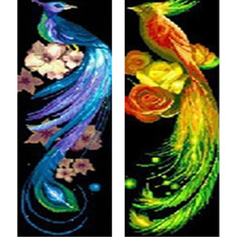 discount handmade home decoration pieces diamond embroidery home decor phoenix 2 pieces rhinestones diy diamond painting