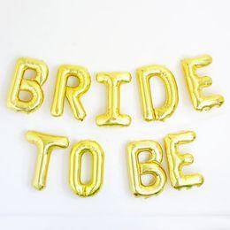 "Discount party supplies 16"" 9pcs lot BRIDE TO BE Gold silver foil balloon bachelorette party wedding decoration wedding event party supplies"