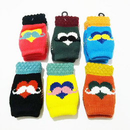 Wholesale 2016 new boys and girls children s gloves warm autumn and winter half finger thick gloves for children years old to write cartoon