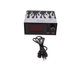 Wholesale LCD Digital Display Tattoo Power Supply Machine Flame Black