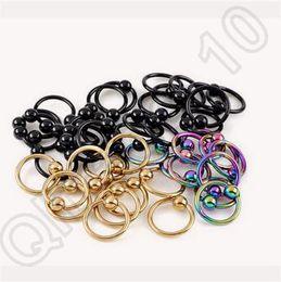 Anneaux de nez Body Art Piercing Bijoux de mode en acier inoxydable 316L nez ouvert Anneau d'oreille Puces Faux Nez 500pcs LJJC4465 Ring