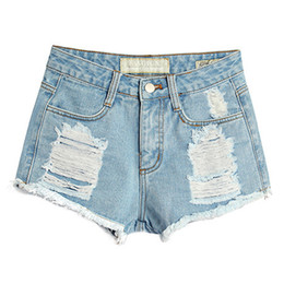Loose High Waist Denim Shorts Online | Loose High Waist Denim ...