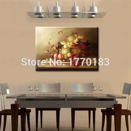 master quality hand painted dining room oil painting fruit painting grape canvas pictures wall decoration table still lifes - Painting Dining Room