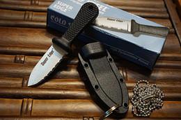 Wholesale 2016 Cold Steel Super Edge mini couteau Camping pêche tactique survie couteaux droites Sharp Dent Blade Roch Cut Rope EDC outil