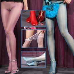 Wholesale 2015 Best sales Super Thin DY Sexy hot Gipsy Women s Invisible Seamless oil silk Shiny Glossy Sheer Stocking Nylon pantyhose hose Tight