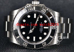 Discount factory supplier watches Factory Supplier Luxury Watches 40MM Black Dial Stainless Steel Automatic Mens Watch 114060 MAN WATCH Wristwatch