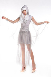 Wholesale Halloween costume zombie stage under appeal female the ghost bride demons Sexy Womens Corpse Party Event Coser Cosplayer
