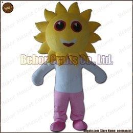 Wholesale Costume de mascotte de tournesol la livraison libre adulte bon marché de bande dessinée de mascotte de mascotte de peluche de haute qualité accepte l ordre d OEM