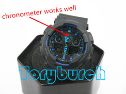 2016 top quality relogio G*100 box men's sports watches, Luxury brand men watch LED chronograph wristwatch, military watch, digital watch from boxing buckle suppliers