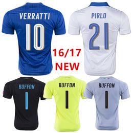 2016 Италия вратарь сборной футбол Джерси тайский качество 16 17 Италия Вратарь Желтый Черный Серый Буффон Футбол Рубашка