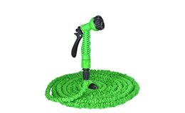 Discount 25ft hose spray Expandable Garden Water Hose 25FT.50FT. 75FT.100FT.125FT.150FT Pipe Magic Hose Stretch Hosepipe with 7 Function Multifunctional Spray Gun
