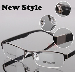 wholesale famous brand designer spectacle eyeglasses metal half rim optical frame eyewear for men women myopia glasses 8005