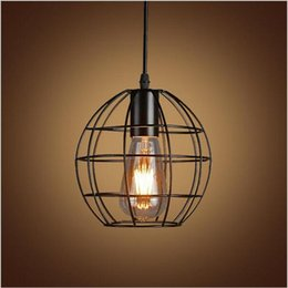Vintage Iron Pendant Light Industrial Lighting Nordic Country Style Retro  Cages Pendant Lamp E27 Droplight Hanging Light Fixture