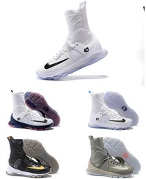 Wholesale Kevin Durant KD 8 Elite Basketball Shoes Home White On Court Black Gold Wolf Grey Blue Men Sneakers High Top KD8 Sports Shoes 7-12