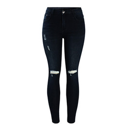 Discount Dark Blue Ripped Skinny Jeans | 2017 Dark Blue Ripped