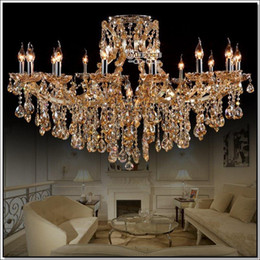 Magnificent Chandelier Online Shopping amber maria theresa crystal chandelier luxurious torch crystal lighting lamps chrystal lampadario mds38 d800mm h680mm online Online Shopping Large Cognac Glass Crystal Chandeliers Light Fixture Hotel Maria Theresa Crystal Light Lamps Md8477