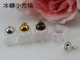13x13mm mini square with metal capglass bottles pendantglass globe terrariumhand blown glass orb botanical necklace pendant blown glass bottle pendant