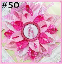 Wholesale bottle cap loopy hair bows Flower hair bow Loopy hair clips Girls hair clippied