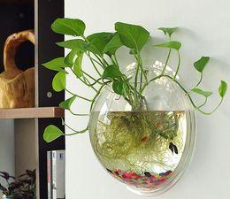 Hot Sell Goldfish Acrylic Aquarium Ecological Transparent Wall Aquarium Round Shape For Home Decor