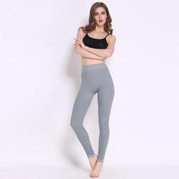 Mulheres Novas Primavera Outono Sexy Confortável Sexy Sports Calças Elastic Fitness Correr Calças Cintura Alta Slim Grey Cor Lápis Leggings