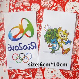 Wholesale Brazil Olympic Games Newly Arrive Make Up Stickers Hot Styles Temporary Tattoo Fashion Tatto Tatoo Olympic Games