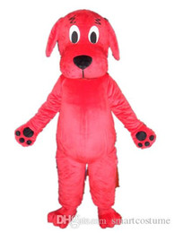 online shopping Custom made an adult Clifford the Big Red Dog mascot costume with big eyes for adult