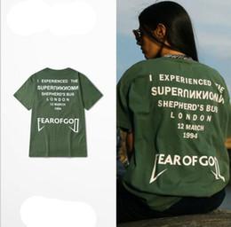 Wholesale fear of god shirt men punk rock t shirt streetwear kanye west clothing yeezus tee military army green shirts xl
