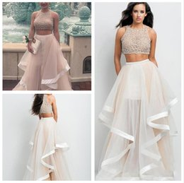 Discount White Two Piece Crop Top Skirt   2017 White Two Piece ...