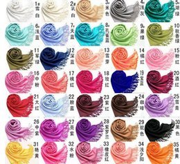 2017 women scarves dhl shipping Pashmina Cashmere Solid Shawl Wrap Women's Girls Ladies Scarf Soft Fringes Solid Scarf Size:180*70cm DHL Free Shipping inexpensive women scarves dhl shipping