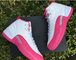 2016l high Air Retro XII Basketball Shoes women girls GS white Pink Retro s Athletic Sneakers sports shoes online
