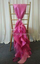 Wholesale Fashion Wedding Chair Sashes Taffeta Pearl Yarn m Length Party Banquet Chair Covers Wedding Decorations