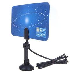 Antena de televisión digital de interior HDTV DTV HD VHF UHF diseño plano Alto ganancia US / EU Plug Nuevo receptor de antena de TV de llegada