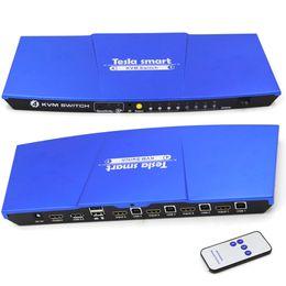 Новое высокое качество USB HDMI KVM переключатель 4 порта USB KVM HDMI Switch Поддержка 3840 * 2160 / 4K * 2K Дополнительный порт USB2.0 ИК-пульт дистанционного управления