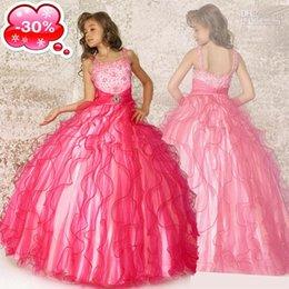 online shopping 2017 beautiful fuchsia pink chiffon beads girl beauty dress special occasions dress custom clothing