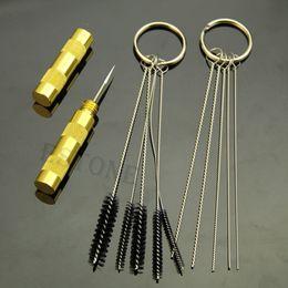 Wholesale PC Airbrush Spray Cleaning Repair Tool Kit Stainless steel Needle Brush Set