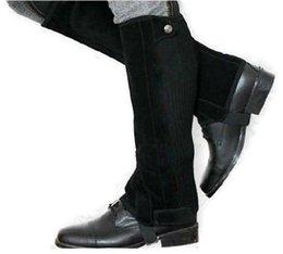 Equestrian Chaps Half Pants Sport Cuissard Protecteur de jambes Black Equestrian Supplies Équipement d'équitation Knight Leggings