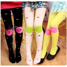 Wholesale Autumn Children Girls Tights Velvet Candy Colors Cute Cat Fish Tights For Baby Kids Girls Pantyhose Stocking