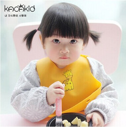 Wholesale baby bib candy colour Waterproof Children bibs aprons saliva burp cloths for kids eating convenient and safe Imitation of silica gel