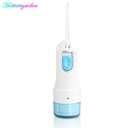 Wholesale Rechargeable Oral Irrigator Teeth Care Adjustable Nozzle Bacteria Remove Debris Cleaner Gums Massage Portable Beauty Device Replaceable Tips