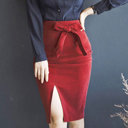 Womens Red Pencil Skirt Online | Womens Red Pencil Skirt for Sale