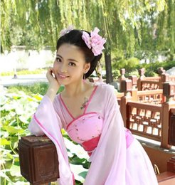 Wholesale chinese fairy dress ancient costume for women folk dance wear clothes clothing womens traditional ancient chinese clothing